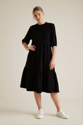 Seed Heritage Tiered Mock Neck Dress