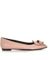 Tod's Ballerina leather point-toe flats