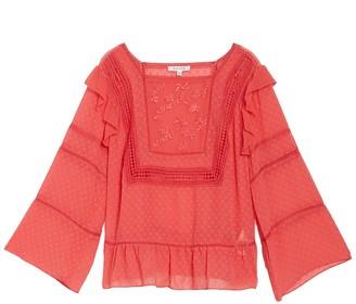 Nanette Lepore Embroidered Crochet Lace Blouse (Plus Size)