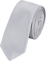 Lanvin Men's Silk Satin Skinny Necktie-SILVER