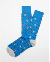 Express beach ball print dress socks