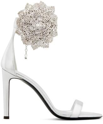 Giuseppe Zanotti beaded 3D floral detail sandals