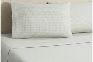 Belle Epoque Flannel Gingham Sheet Set - Tan Full