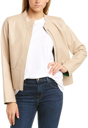 Cole Haan Flap Leather Jacket