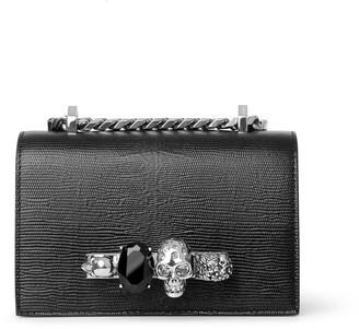 Alexander McQueen Mini Jewelled black and silver satchel