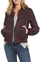 Steve Madden Women's Lace Detail Bomber Jacket