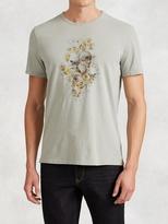 John Varvatos Floral Skull Graphic Tee