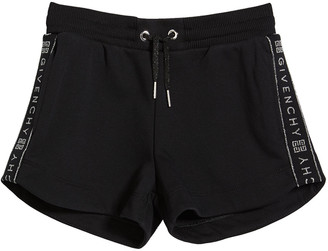 Givenchy Girl's Logo-Tape Drawstring Shorts, Size 6-10