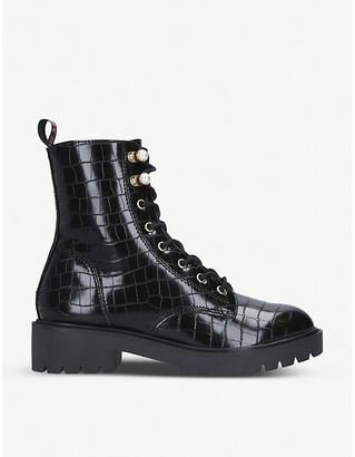 Selfridges Tilly mock-croc faux-leather ankle boots