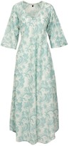 At Last... Anna Cotton Dress - Duck Egg Blue