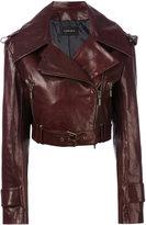Plein Sud Jeans cropped biker jacket