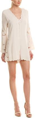 Astr The Label Embroidered Romper
