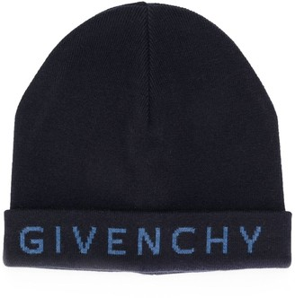 Givenchy embroidered logo knitted hat