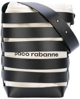 Paco Rabanne strap detail bucket bag - women - Cotton/Calf Leather - One Size