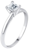 1/2 CT. T.W. IGL certified Princess-cut Diamond Solitaire Prong Set Ring in 14K Gold (HI-I2I3)