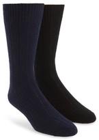 John W. Nordstrom Men's 2-Pack Cashmere Blend Socks Box Set