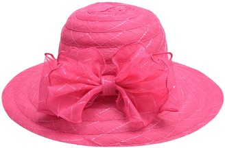 Lawliet Womens Crushable Washable Light Weight Sun Protection Beach Wide Brim Hat (Hot Pink)