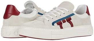 Salvatore Ferragamo Borg 12 Sneaker (Pearl/Red/White) Men's Shoes