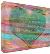 Feel Good Art Please Remove Your Boots and Shoes Gallery Wrapped Box Canvas with Solid Front Panel (40 x 30 x 4 cm, Medium, Soft Green)