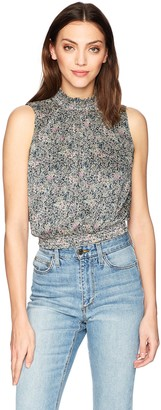 GUESS Women's Sleeveless Aren Smocked Top