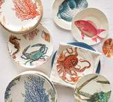 Pottery Barn Under the Sea Critter Melamine Salad Plate, Mixed Set of 4