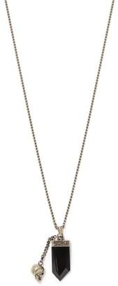 Alexander McQueen Crystal And Skull-pendants Metal Necklace - Silver