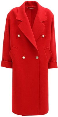 Alessandra Rich Oversize Wool & Cashmere Long Coat