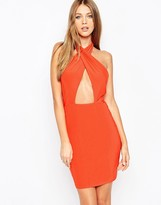 Missguided Halterneck Body-Conscious Dress