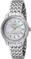 Bulova Women's Diamond Stainless Steel Silver-Tone Dial