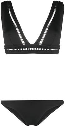Zimmermann Laser Cut Detailing Bikini Set