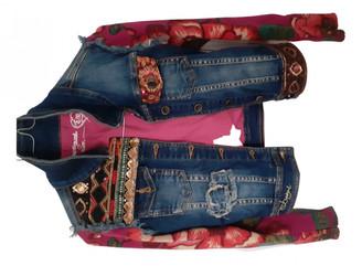 Desigual Multicolour Denim - Jeans Jackets & Coats