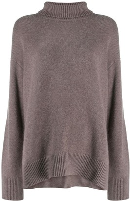Sminfinity Roll-Neck Loose Sweater