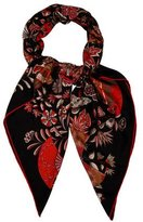 Hermes Fleurs Et Papillons Cashmere & Silk-Blend Shawl