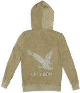 Butter Shoes Four Leaf Clover 'Freedom' Fleece Zip Hoodie - Boys