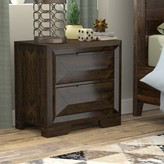 Bender Contemporary 2 Drawer Nightstand Union Rustic