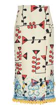 Marni Bead Embroidered Canvas Skirt