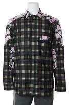 Givenchy Men's 100% Cotton Plaid & Floral Button Down.