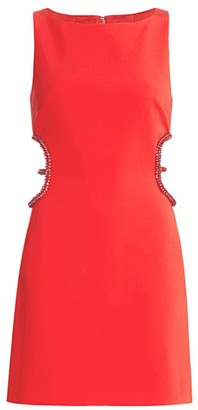 HANEY Embellished Cut-Out Mini Dress