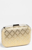 Expressions NYC Diamond Weave Box Clutch