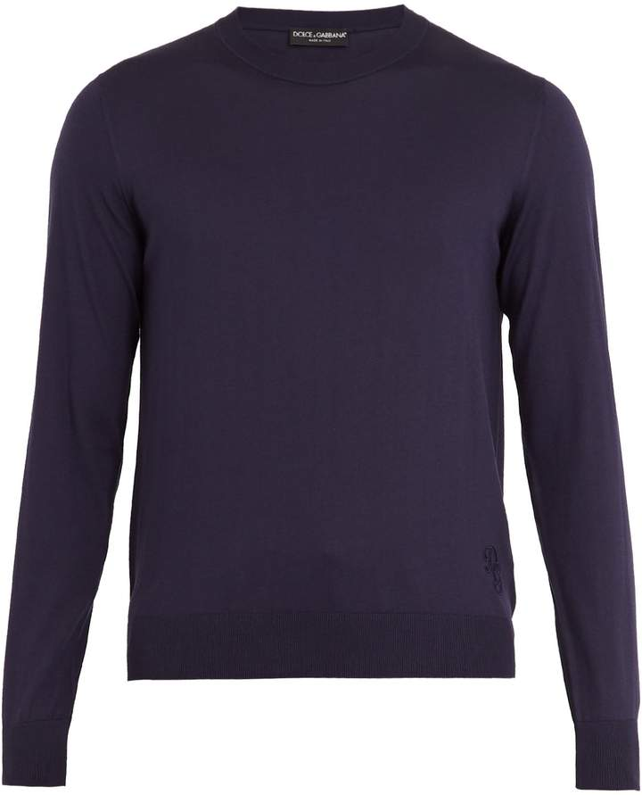 Dolce & Gabbana Crew-neck silk-knit sweater
