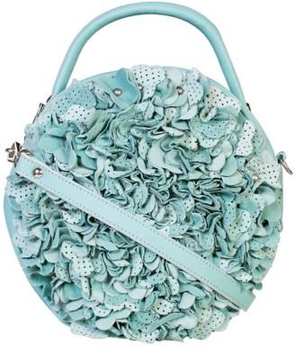 Manley Luna Cross Body Embellished Leather Bag Mint