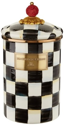 Mackenzie Childs MacKenzie-Childs Large Courtly Check Enamel Canister