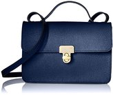 Orla Kiely Textured Leather Sweet Pea Convertible Shoulder Bag