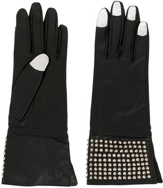 Yohji Yamamoto Pre-Owned 2000s Micro Studs Contrasting Nails Gloves