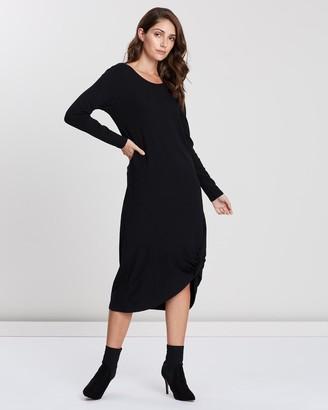 Privilege Twist Hem Dress