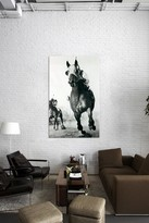 Seabiscuit Horse Racing t3 by Retro Images Archive Canvas Print