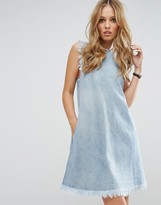 Replay Raw Edge Denim Dress