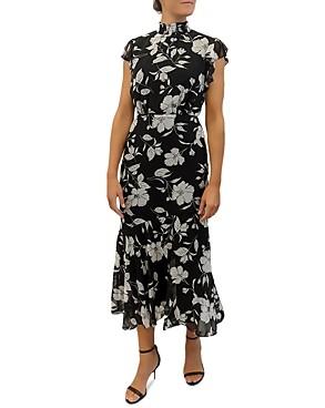 Sam Edelman Modern Elegant Flower Maxi Dress