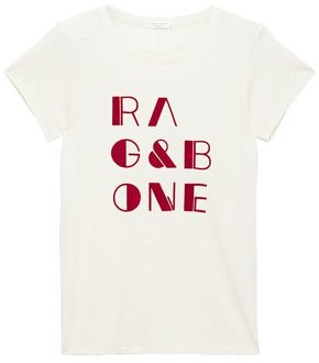 Rag & Bone Flocked Slub Pima Cotton-jersey T-shirt