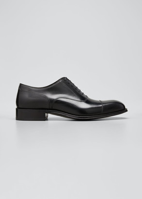 Tom Ford Men's Formal Leather Lace-Up Oxfords